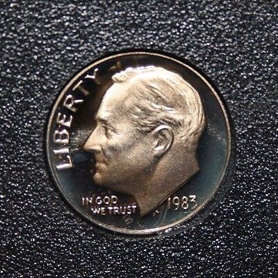 1983 NO S Proof Roosevelt Dime in set Cameo