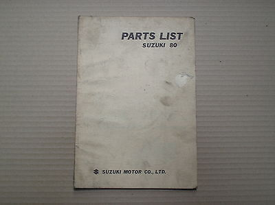 Suzuki 80 model K10 genuine parts catalogue good lightly USED