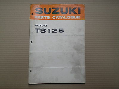 Suzuki TS 125 TS125 R J K L  genuine parts catalogue 99000-91493 lightly USED
