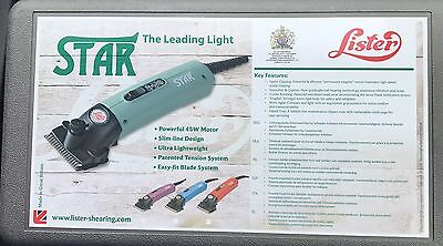 Lister Star Hair Clipper Complete includes carrying case 258-34501  110 Volts