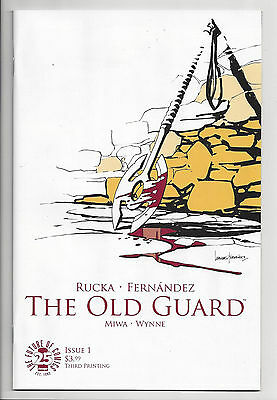 THE OLD GUARD #1 (3rd PRINT) IMAGE GREG RUCKA Movie Option! SOLD OUT 2017 NM