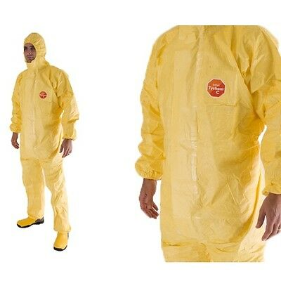 Tyvek Tychem C Yellow Liquid Tight Disposable Chemical Boilersuit Coverall