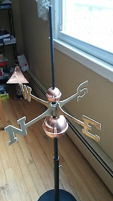 Good Directions Full Weathervane Set-up Polished Copper Balls Directionals Mount