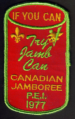Boy Scouts Canadian Jamboree P.e.i., Canada 1977  Embroidered Patch