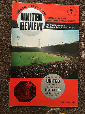 MANCHESTER UNITED v TOTTENHAM HOTSPUR : CHARITY SHIELD 12th August 1967