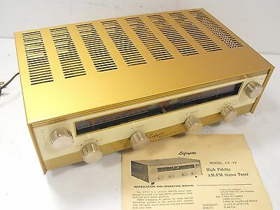Lafayette LT-77 High Fidelity AM-FM Stereo Tuner Vintage Tube Audio Equipment
