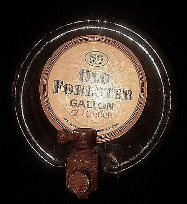 Vintage Old Forester 1 Gallon Bourbon Whiskey Glass Barrel Keg ***empty**