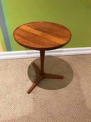 Mid Century Solid Teak Accent Table By Hans Andersen Of Denmark