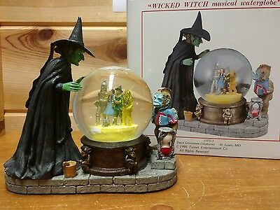 Wizard Of Oz Dave Grossman Wicked Witch Snow Globe Musical Crystal Ball with box