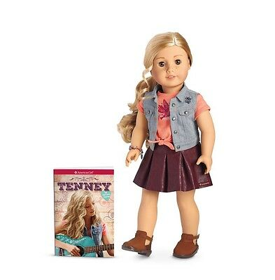 "American Girl Tenney Grant Doll & Book New NRFB 18"" with Bracelet NEW"