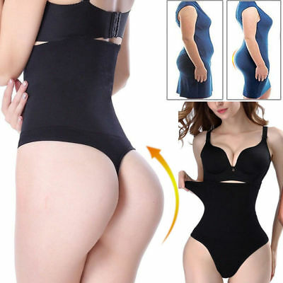 Women's High Waist Panty Body Shaper Slim Tummy Control Underwear Cincher Thong