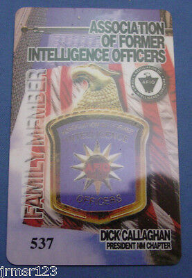 Association Of Former Intelligence Officers Card Family Member Pba Fop