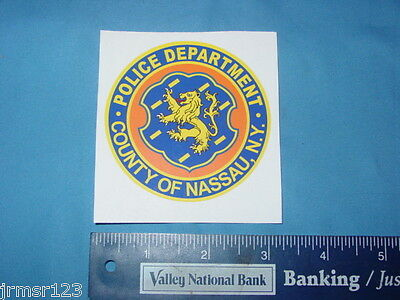 Nassau County Police  New York Pba Police Pd  New Decals