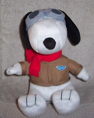 """WOW ---> SNOOPY  METLIFE  2015  FLYING  ACE  PILOT w/  GOGGLES 6""""  PLUSH"""