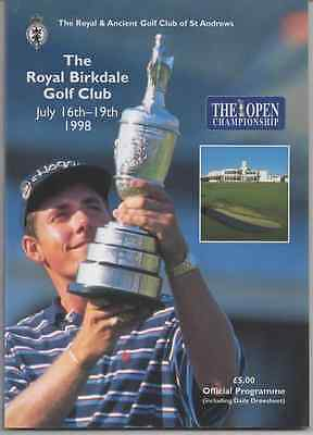 1998-127th OPEN CHAMPIONSHIP-O' MEARA-US @ROYAL BIRKDALE-OFFICIAL GOLF PROGRAMME