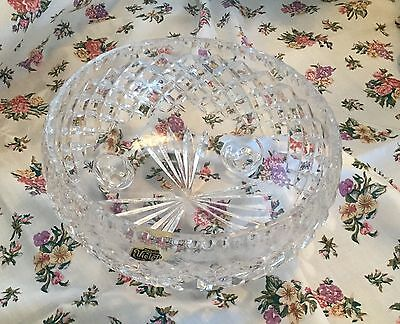 Vintage Bohemia Hand Cut Crystal Footed Bowl excellent cond