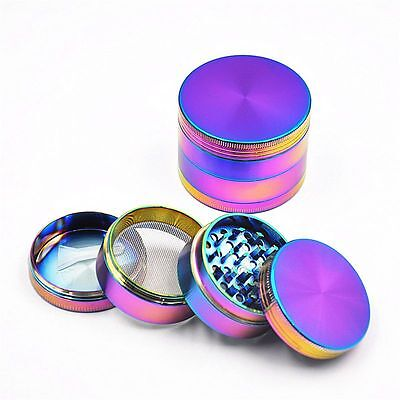 Herb/Spice/Weed Alloy Smoke 4 Piece Crusher 40mm Colourful Tobacco Grinder