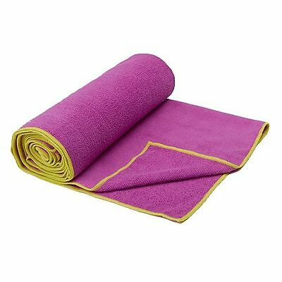 NEW Gaiam Thirsty Yoga Mat Towel Orchid 05-61340