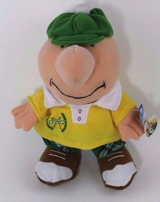 "Ziggy Plush Toy Sid Golf 2006 Stuffed 10"" Comic Collectible Green Green Plaid"