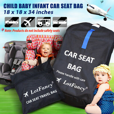 Child Baby Car Safety Seat Bag Airport Check Travel Case With Shoulder Strap