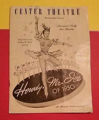 RARE VINTAGE 1950 CENTER THEATRE - HOWDY MR. ICE of 1950 SOUVENIR PROGRAM GUIDE