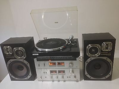 Vintage Retro Pioneer Turntable Record Player, Amp, tuner, And Speakers
