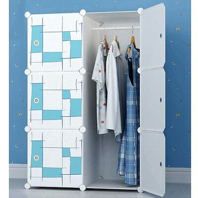 Newly Wardrobe Clothes Storage Closet Organizer Shelf Rack Large Space Container