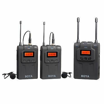 BOYA Lavalier Microphone Kit BY-WM8 (Wireless, UHF Dual Channel) Audio Interview