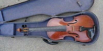 antique American full size 4/4 violin in case ready to play