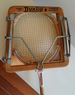 Vintage Dunlop Wooden Squash Racquet Press Collectors