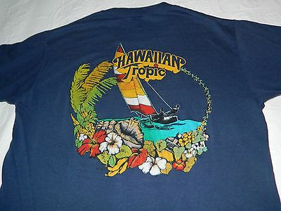 Vintage 1970's Hawaiian Tropic sailing medium t shirt by Stedman paper thin