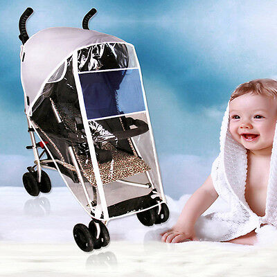 Latest Stroller Rain Cover Toddler Buggy Dustproof Protector Pushchair Accessory