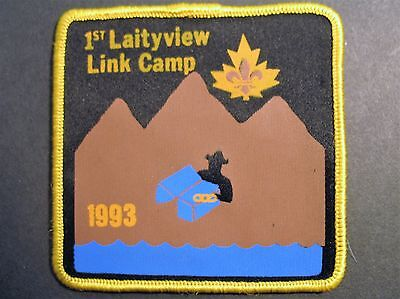 Boy Scouts Canada 1St Laityview Link Camp 1993 B.c. Fraser Valley Patch Cubs