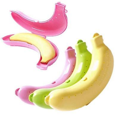 Cute 3 Colors Fruit Banana Protector Box Holder Case Lunch Container Storage TB