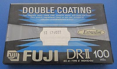 FUJI DR-II 100 Type II Chrome Cassettes - Blank - Factory Sealed