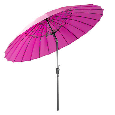 Charles Bentley 2.7m Shanghai Parasol Umbrella Crank Tilting Function - Pink