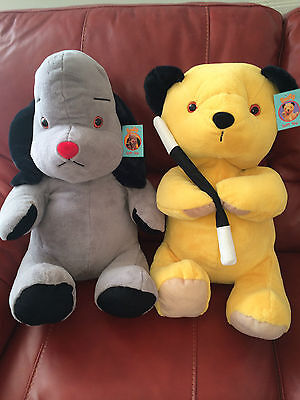"""L@@k Ideal Gift Bnwt Huge X-Large 18"""" High Sooty & Sweep Soft Plush Cuddly Toys"""