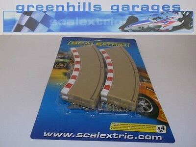 Greenhills Scalextric Radius 1 Curve Outer Borders & Barriers x 4 C8240 BNIP ...