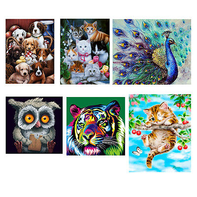 DIY 5D Diamond Embroidery Painting Animal Cross Stitch Kit Craft Home Decoration