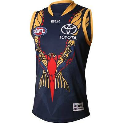 Adelaide Crows BLK AFL Replica Indigenous Guernsey Sizes S-5XL! Limited Ed!5