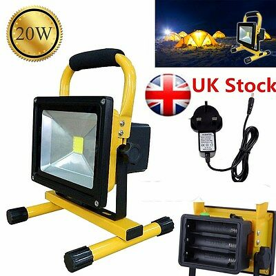 20W Work Light Portable Outdoor LED Floodlight Rechargeable Lamp 18650 Battery