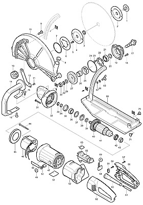 Genuine New Makita Parts (by choosing) for 4114S