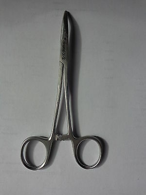 """Rocialle Curved nose fishing forceps 14cm / 5.5"""" stainless steel"""
