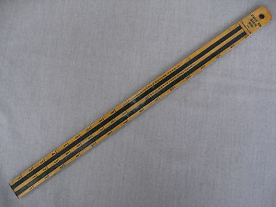 Vintage wood gasoline measuring stick for Ford/ Atwater/ Socony Standard Oil