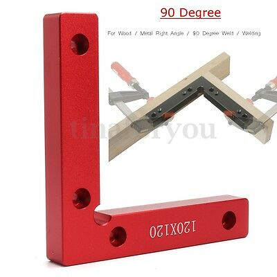 90 Degree Red Aluminum Alloy Angle L Shape Corner Clamp for Wood Metal Welding
