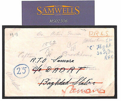 MS2306* 1918 WW1 IRAQ DLRS *Desert Motorbike* Cover Forwarded 30 Squadron RFC