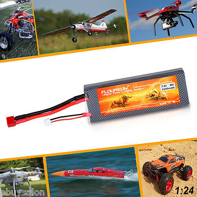 2S 7.4V 5200mAh 30C Deans Plug LiPo Battery for RC Car Truck Airplane Helicopter