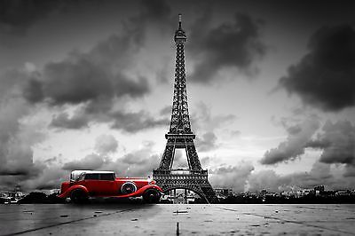 Retro Old Red Car Black Backgound Wall Mural Photo Wallpaper Giant Wall Decor 72 18 Picclick Uk