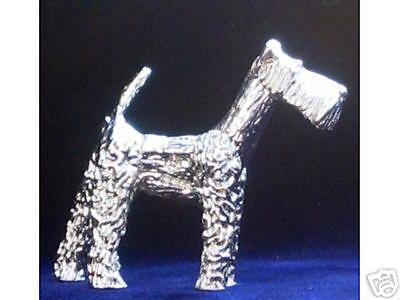 Rare Sterling Silver Airedale Terrier