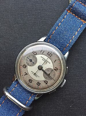 Chronographe Suisse Hand-winding Vintage Mens Watch